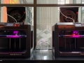 Octavia Lab's 3D printers making face shields