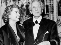 Architect Frank Lloyd Wright with his granddaughter and actress, Anne Baxter