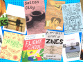 Collage of zines