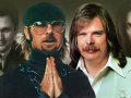 Collage of Jim, Dan, Troy Seals, and Johnny Duncan from their album covers.