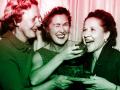 3 women eating fruitcake