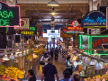 photo of visitors at Grand Central Market in Los Angeles