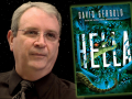 Author David Gerrold and his latest book, Hella