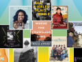 Collage of selected top ten books of 2020