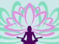 Lotus Flower and Yoga silhouette