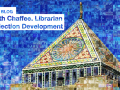 Central Library tower on a mosaic collage of Keith Chaffee's blog posts