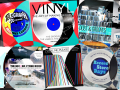 A graphic illustration about record stores and vinyl records