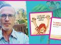 Luis Amavisca and his books, I Love My Colorful Nails and La muñeca de Lucas