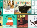 8 book covers of cats