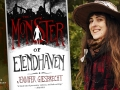 Jennifer Giesbrecht and her first book, The Monster of Elendhaven