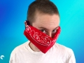 No-sew fabric face mask