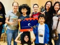Studio City Children's Book Club members, with children's librarian Miss Lauren and author Adam Jay Epstein