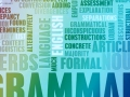 collage of grammatical words