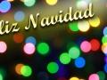 Feliz Navidad with colorful lights