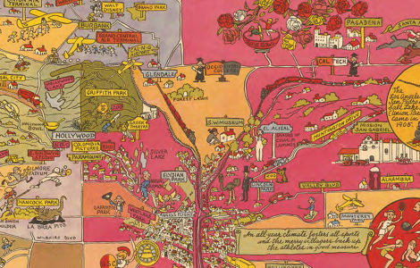 Detail. Historical and Recreational Map of Los Angeles [1942]. Joe Mora/Los Angeles Public Library Map Collection