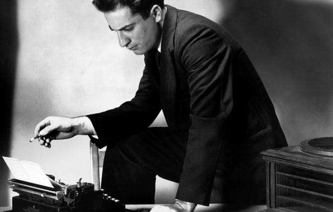 William Saroyan with Typewriter. Courtesy of Varoujan Der Simonian.