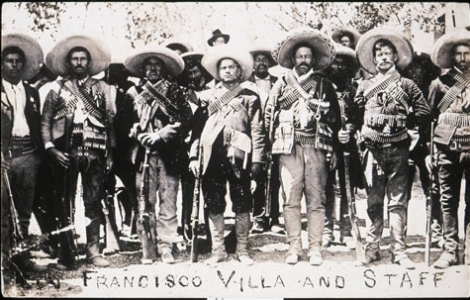 Unknown, Francisco [Pancho] Villa and Staff (Pancho Villa y su personal), 1911. Getty Research Institute (89.R.46)