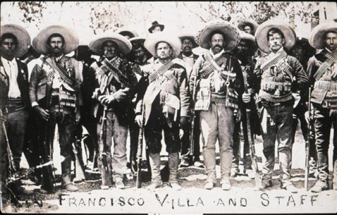 Unknown, Francisco [Pancho] Villa and Staff (Pancho Villa y su personal), 1911. Getty Research Institute (89.R.46)