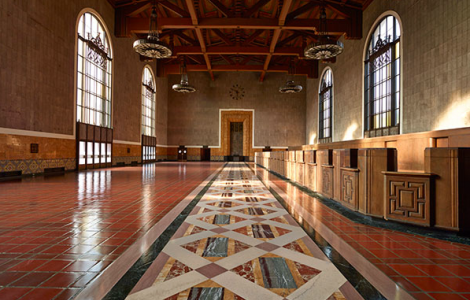 Ticket Concourse, Union Station, 2013.  Photo by John Kiffe. Los Angeles, Getty Research Institute. ©  J. Paul Getty Trust