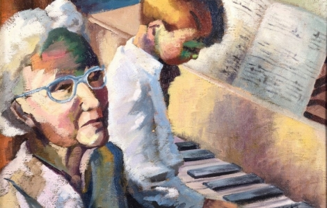 Piano Lesson by Helene Jukoff