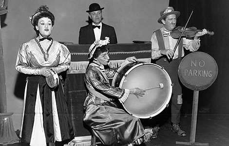 Band members Frances Osborne, Forman Brown, Dorothy Neumann and Harry Burnett