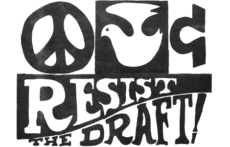 Peace & Love: Resist the Draft!, Undated Leaflet, Printing Ink on Paper, 8.5 x 13 inches, L.A. Resistance Collection, Los Angeles Public Library