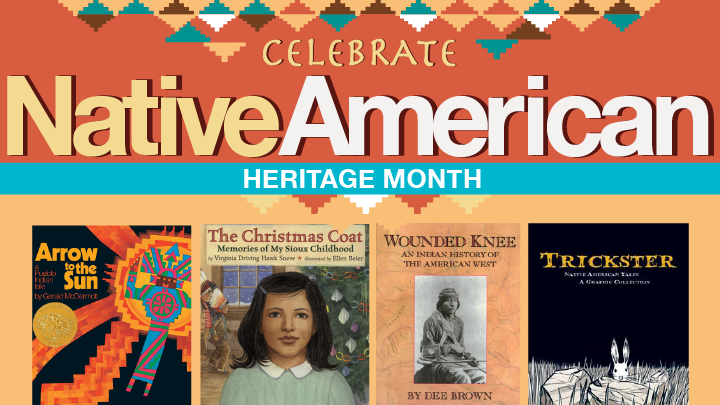 Native American Heritage month colorful graphic