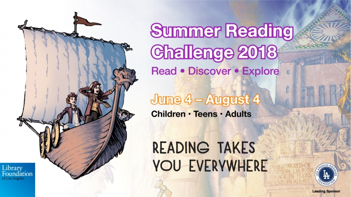 Summer Reading 2018 kids in a flying boat