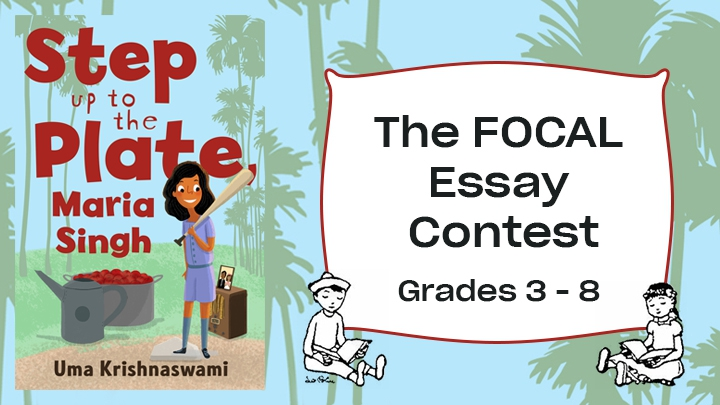 Book cover with FOCAL writing contest logo