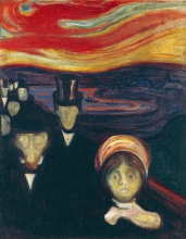 Angst (Anxiety) by Edvard Munch (1863-1944)