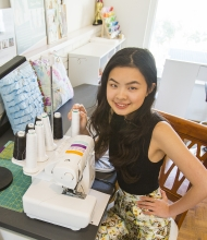 Teen author and fashionista Angela Lan