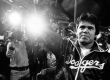 """Dodger pitcher Fernando Valenzuela waves to his adoring fans at the height of """"Fernandomania"""" in 1981"""