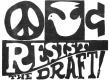 Peace & Love: Resist the Draft Leaflet detail
