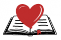 open book with a heart