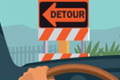 Detour sign illustration