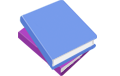 blue and purple books