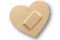 a heart-shaped band aid