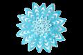 Blue paper snowflake