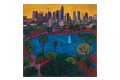 A painting of MacArthur Park by Jose Ramirez
