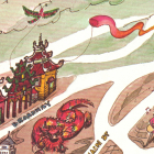 The Junior League created this tourist map in 1980 showing a festive looking Chinatown