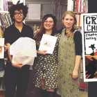 From left Andrea Quaid, Katelynn Perez, Maximus Oppenheimer, Selene Castañeda, and Elizabeth Crawford and zine, Crystalline Children: An Excavation