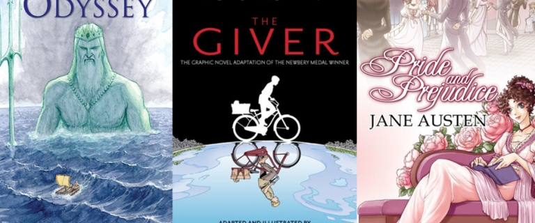 3 graphic novel book covers