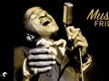 Close-up of Sammy Davis, Jr. performing