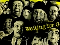Collage of Waiting for Godot performance by Bert Lahr and E. G. Marshall