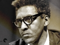Bayard Rustin at a news briefing on the Civil Rights March on Washington, D.C.