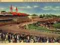 Vintage postcard of Churchill Downs, in Louisville Kentucky