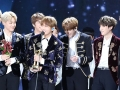 BTS receiving a Donsang award at the 31st Golden Disk Awards in Seoul in 2017.