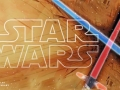 Star Wars header with lightsabers