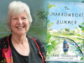 Author Anne Youngson and her latest novel, The Narrowboat Summer