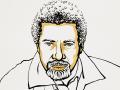 Abdulrazak Gurnah illustration by Niklas Elmehed